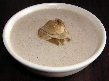 Raw Cream of Mushroom Soup