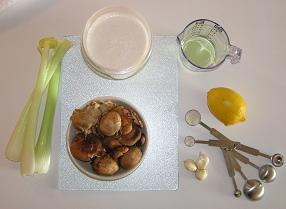 Ingredients for Raw Cream of Mushroom Soup